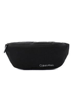 Мужская текстильная поясная сумка CALVIN KLEIN черного цвета, арт. K50K505660 | Фото 1