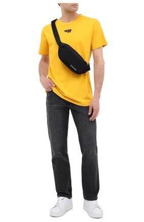 Мужская текстильная поясная сумка CALVIN KLEIN черного цвета, арт. K50K505660 | Фото 2