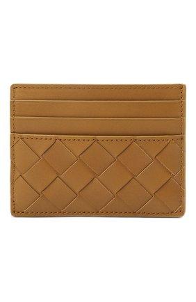 Мужской кожаный футляр для кредитных карт BOTTEGA VENETA светло-коричневого цвета, арт. 635057/VCPQ3 | Фото 1