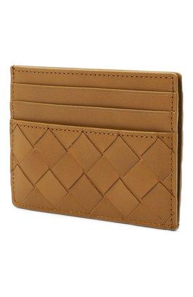 Мужской кожаный футляр для кредитных карт BOTTEGA VENETA светло-коричневого цвета, арт. 635057/VCPQ3 | Фото 2
