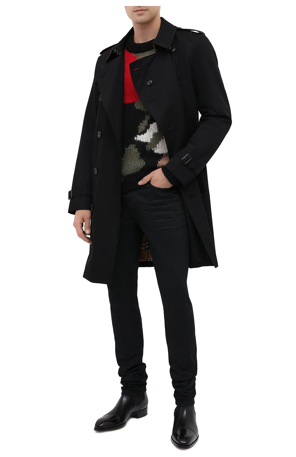 Мужской шерстяной свитер SAINT LAURENT разноцветного цвета, арт. 627313/YAQR2 | Фото 2