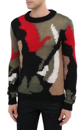 Мужской шерстяной свитер SAINT LAURENT разноцветного цвета, арт. 627313/YAQR2 | Фото 3