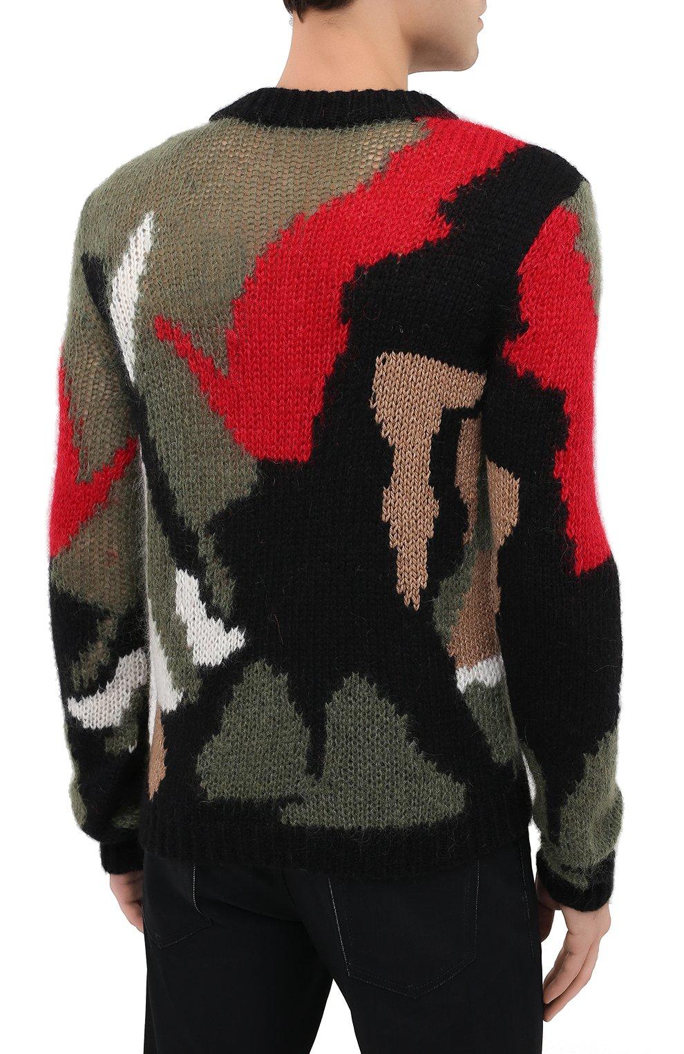 Мужской шерстяной свитер SAINT LAURENT разноцветного цвета, арт. 627313/YAQR2 | Фото 4