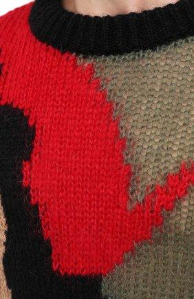 Мужской шерстяной свитер SAINT LAURENT разноцветного цвета, арт. 627313/YAQR2 | Фото 5