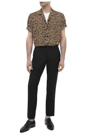 Мужская рубашка из вискозы SAINT LAURENT коричневого цвета, арт. 531956/Y2B13 | Фото 2