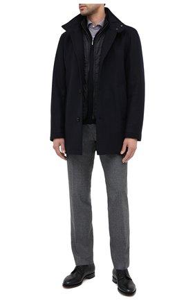 Мужской пальто из шерсти и кашемира BOSS темно-синего цвета, арт. 50436542 | Фото 2