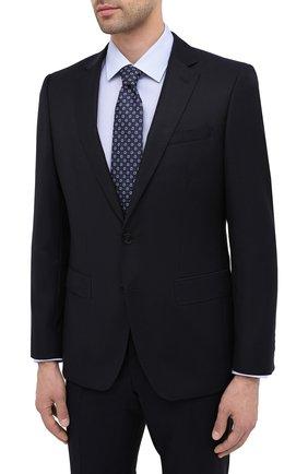 Мужской шерстяной костюм BOSS темно-синего цвета, арт. 50439816 | Фото 2