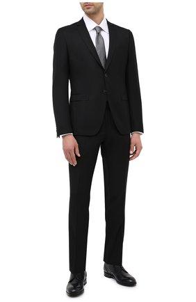 Мужской шерстяной костюм BOSS черного цвета, арт. 50439817 | Фото 1