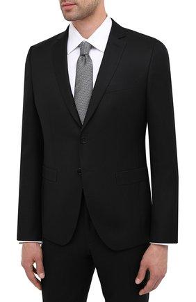 Мужской шерстяной костюм BOSS черного цвета, арт. 50439817 | Фото 2