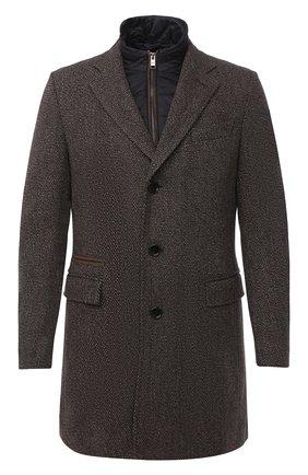 Мужской шерстяное пальто BOSS коричневого цвета, арт. 50438640 | Фото 1