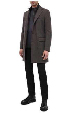 Мужской шерстяное пальто BOSS коричневого цвета, арт. 50438640 | Фото 2