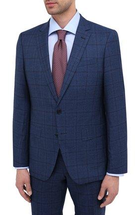 Мужской шерстяной костюм BOSS темно-синего цвета, арт. 50438532 | Фото 2