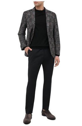 Мужской шерстяные брюки HUGO черного цвета, арт. 50440943 | Фото 2