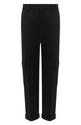 Мужской шерстяные брюки-карго HUGO черного цвета, арт. 50440015 | Фото 1