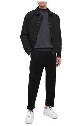 Мужской шерстяные брюки-карго HUGO черного цвета, арт. 50440015 | Фото 2