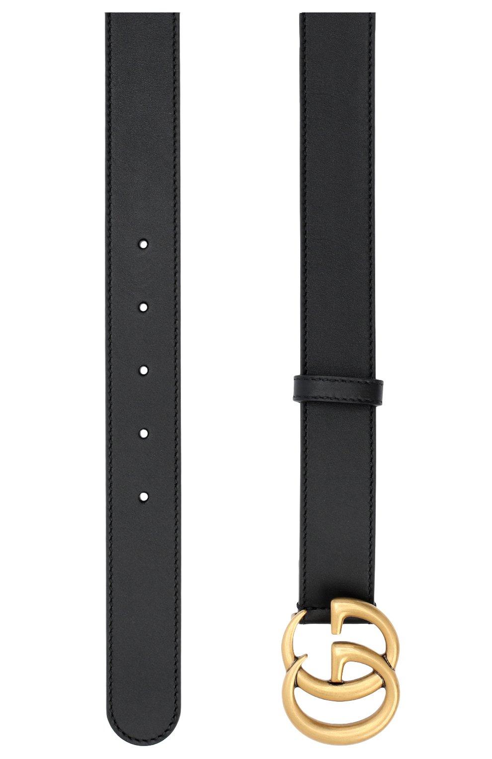 Мужской кожаный ремень GUCCI черного цвета, арт. 414516/AP00T   Фото 2 (Случай: Повседневный)