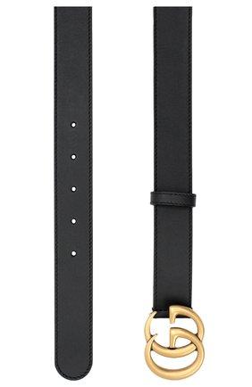 Мужской кожаный ремень GUCCI черного цвета, арт. 414516/AP00T | Фото 2