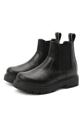 Детские кожаные челси DSQUARED2 черного цвета, арт. 65182/RUNNER/18-27 | Фото 1