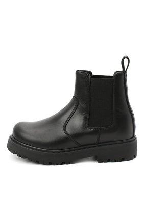 Детские кожаные челси DSQUARED2 черного цвета, арт. 65182/RUNNER/18-27 | Фото 2