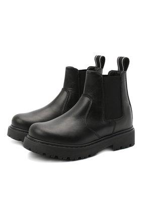 Детские кожаные челси DSQUARED2 черного цвета, арт. 65182/RUNNER/28-35 | Фото 1