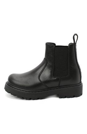 Детские кожаные челси DSQUARED2 черного цвета, арт. 65182/RUNNER/28-35 | Фото 2