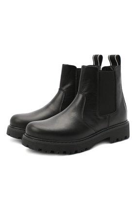 Детские кожаные челси DSQUARED2 черного цвета, арт. 65182/RUNNER/36-41 | Фото 1