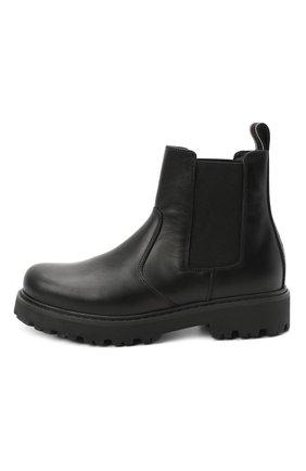 Детские кожаные челси DSQUARED2 черного цвета, арт. 65182/RUNNER/36-41 | Фото 2