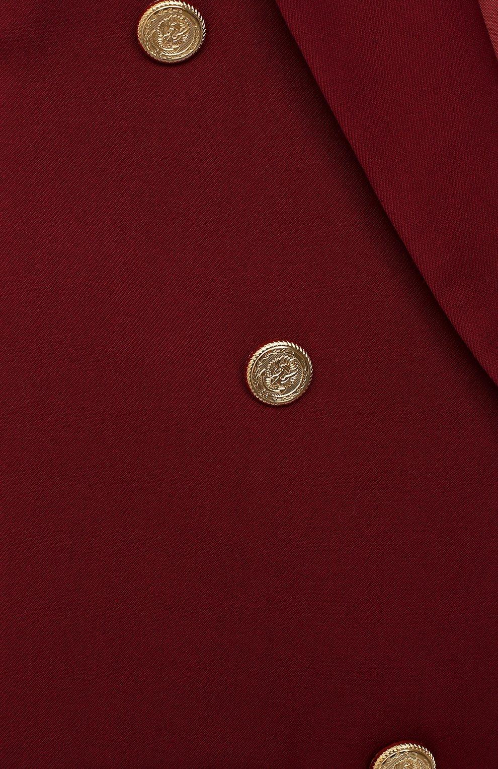 Детский жакет ALETTA бордового цвета, арт. AF000445N/9A-16A   Фото 3