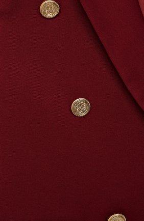 Детский жакет ALETTA бордового цвета, арт. AF000445N/9A-16A | Фото 3