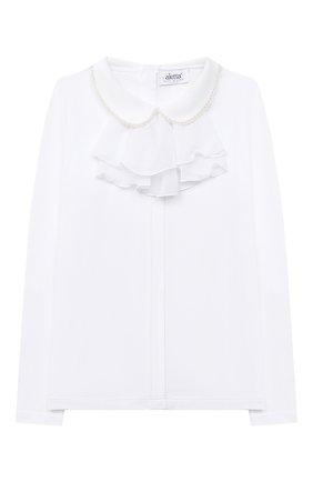 Детское блузка ALETTA белого цвета, арт. AJ000468ML/9A-16A | Фото 1