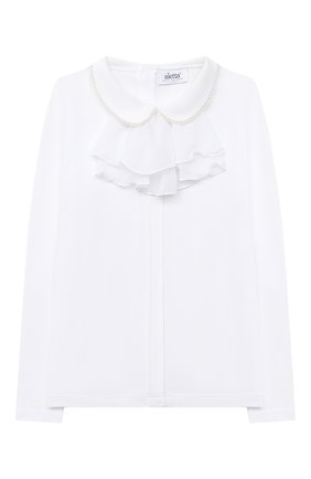 Детское блузка ALETTA белого цвета, арт. AJ000468ML/4A-8A | Фото 1