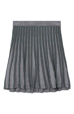 Детская хлопковая юбка ALETTA серого цвета, арт. AKF000780/9A-16A | Фото 1