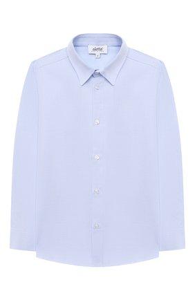 Детская хлопковая рубашка ALETTA голубого цвета, арт. AM000611ML/4A-8A | Фото 1 (Рукава: Длинные; Материал внешний: Хлопок; Случай: Повседневный; Ростовка одежда: 6 лет | 116 см, 7 лет | 122 см, 8 лет | 128 см)