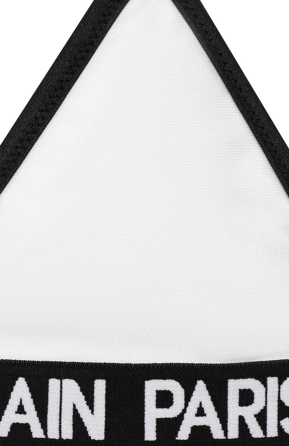 Детского раздельный купальник BALMAIN белого цвета, арт. 6N0129/NX360/12-16 | Фото 3