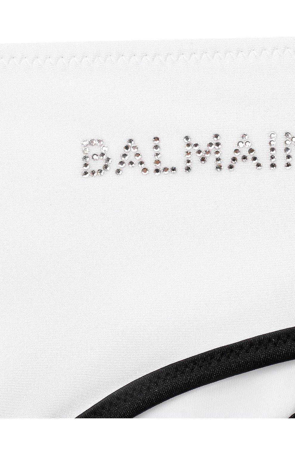 Детского раздельный купальник BALMAIN белого цвета, арт. 6N0129/NX360/12-16 | Фото 4