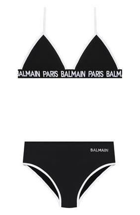 Детского раздельный купальник BALMAIN черного цвета, арт. 6N0129/NX360/12-16 | Фото 1