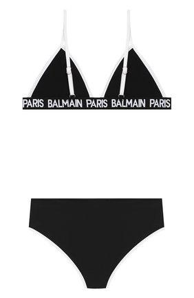 Детского раздельный купальник BALMAIN черного цвета, арт. 6N0129/NX360/12-16 | Фото 2