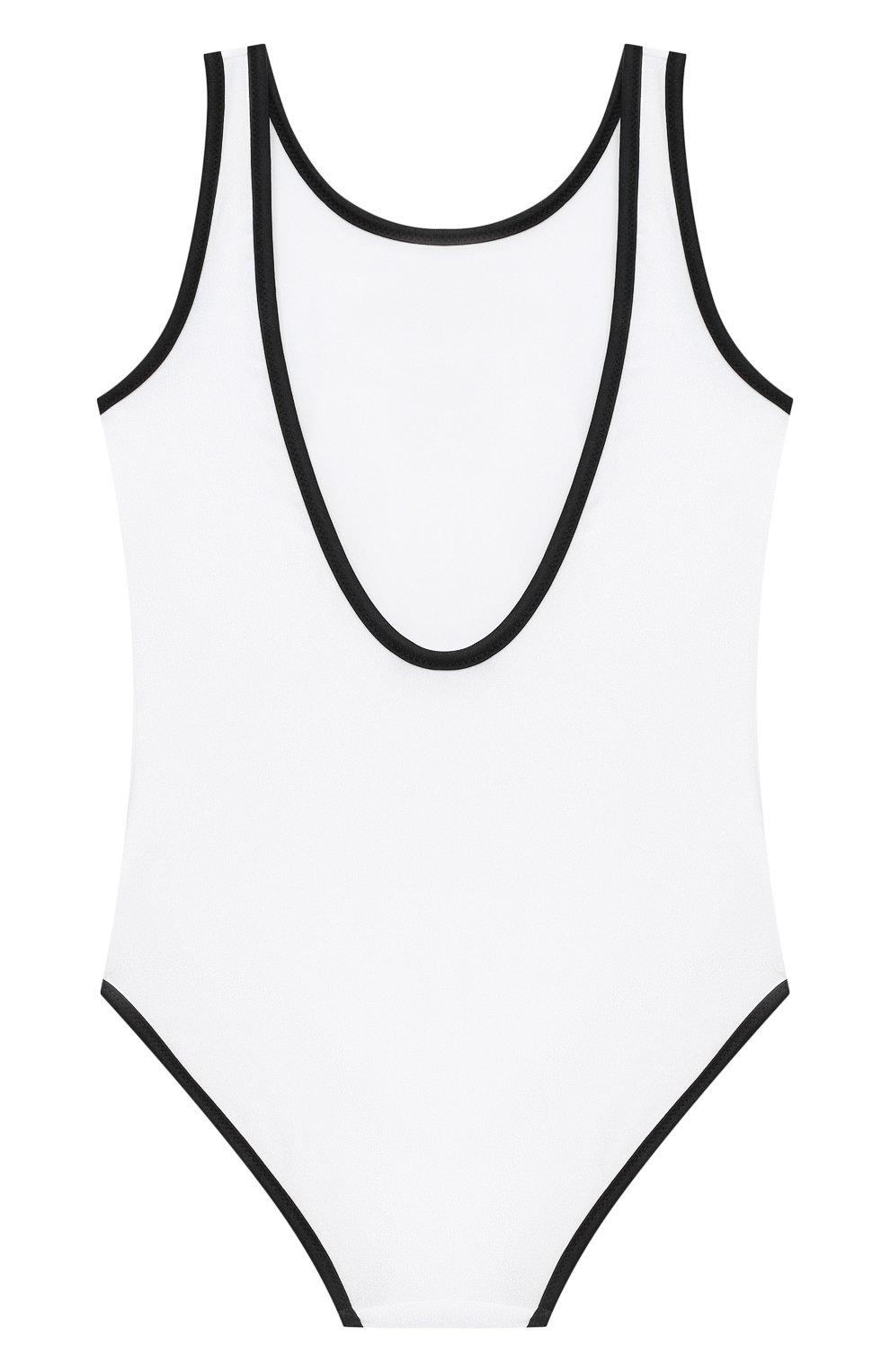 Детского слитный купальник BALMAIN белого цвета, арт. 6N0139/NX360/4-10 | Фото 2