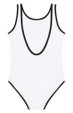 Детского слитный купальник BALMAIN белого цвета, арт. 6N0139/NX360/12-16 | Фото 2