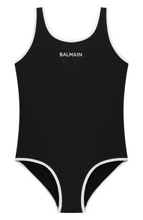 Детского слитный купальник BALMAIN черного цвета, арт. 6N0139/NX360/12-16 | Фото 1