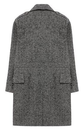 Детское двубортное пальто BALMAIN серого цвета, арт. 6N2620/NF220/4-10 | Фото 2