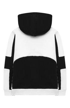 Детский хлопковая толстовка BALMAIN черно-белого цвета, арт. 6N4610/NX320/4-10 | Фото 2