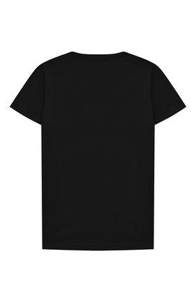 Детская хлопковая футболка BALMAIN черного цвета, арт. 6N8551/NX290/4-10 | Фото 2