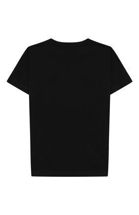 Детская хлопковая футболка BALMAIN черного цвета, арт. 6N8551/NX290/12-16 | Фото 2
