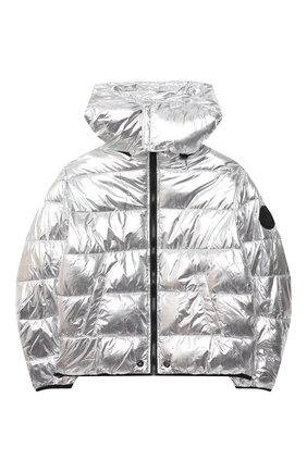 Детского куртка DIESEL серебряного цвета, арт. 00J4XR-KXB40   Фото 1