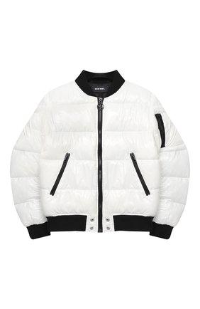 Детская куртка DIESEL белого цвета, арт. 00J50M-KXB48   Фото 1