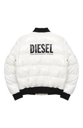 Детская куртка DIESEL белого цвета, арт. 00J50M-KXB48   Фото 2