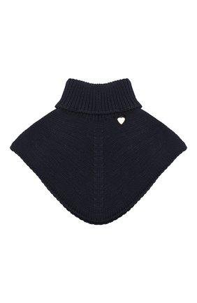 Детский шерстяной шарф-воротник IL TRENINO темно-синего цвета, арт. 20 4058/E0 | Фото 1