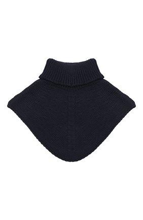 Детский шерстяной шарф-воротник IL TRENINO темно-синего цвета, арт. 20 4058/E0 | Фото 2
