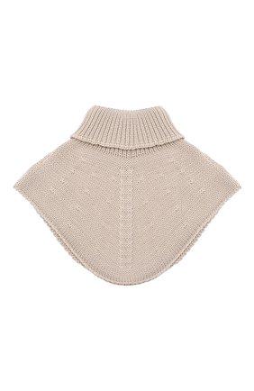 Детский шерстяной шарф-воротник IL TRENINO бежевого цвета, арт. 20 4058/E0 | Фото 2